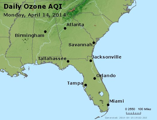 Peak Ozone (8-hour) - http://files.airnowtech.org/airnow/2014/20140414/peak_o3_al_ga_fl.jpg