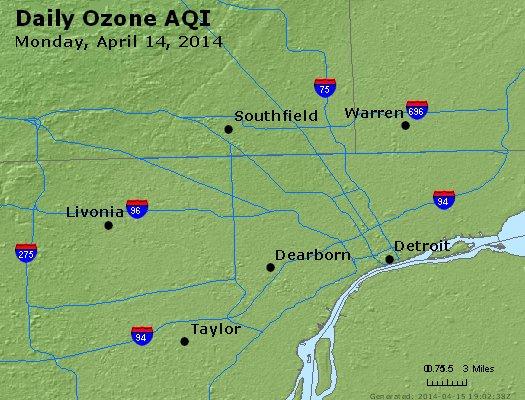 Peak Ozone (8-hour) - http://files.airnowtech.org/airnow/2014/20140414/peak_o3_detroit_mi.jpg