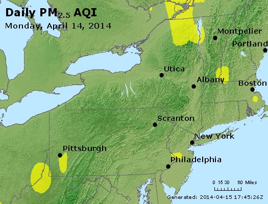 Peak Particles PM<sub>2.5</sub> (24-hour) - http://files.airnowtech.org/airnow/2014/20140414/peak_pm25_ny_pa_nj.jpg