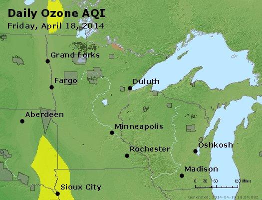 Peak Ozone (8-hour) - http://files.airnowtech.org/airnow/2014/20140418/peak_o3_mn_wi.jpg