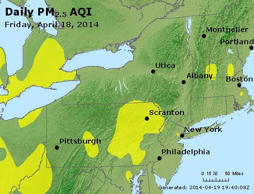 Peak Particles PM<sub>2.5</sub> (24-hour) - http://files.airnowtech.org/airnow/2014/20140418/peak_pm25_ny_pa_nj.jpg
