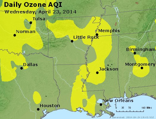 Peak Ozone (8-hour) - http://files.airnowtech.org/airnow/2014/20140423/peak_o3_ar_la_ms.jpg