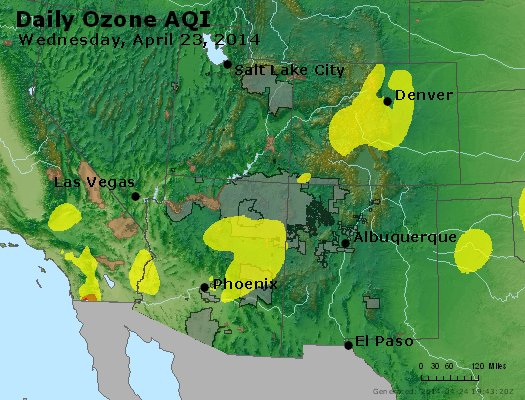 Peak Ozone (8-hour) - http://files.airnowtech.org/airnow/2014/20140423/peak_o3_co_ut_az_nm.jpg