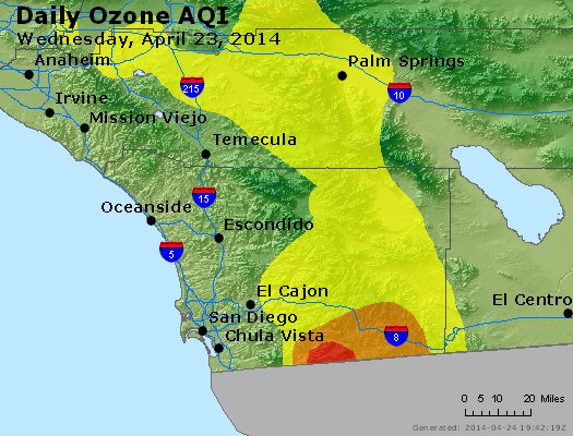 Peak Ozone (8-hour) - http://files.airnowtech.org/airnow/2014/20140423/peak_o3_sandiego_ca.jpg