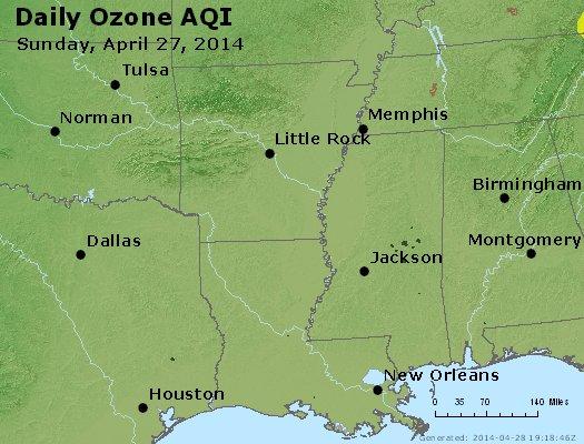 Peak Ozone (8-hour) - http://files.airnowtech.org/airnow/2014/20140427/peak_o3_ar_la_ms.jpg