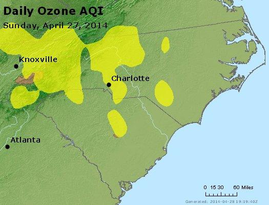 Peak Ozone (8-hour) - http://files.airnowtech.org/airnow/2014/20140427/peak_o3_nc_sc.jpg