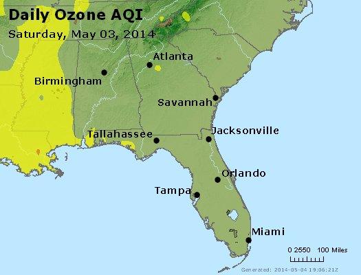 Peak Ozone (8-hour) - http://files.airnowtech.org/airnow/2014/20140503/peak_o3_al_ga_fl.jpg
