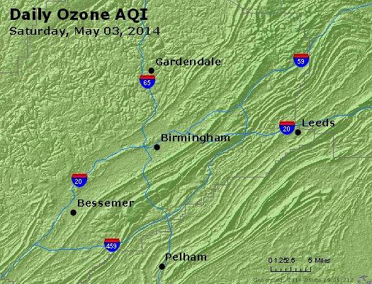 Peak Ozone (8-hour) - http://files.airnowtech.org/airnow/2014/20140503/peak_o3_birmingham_al.jpg