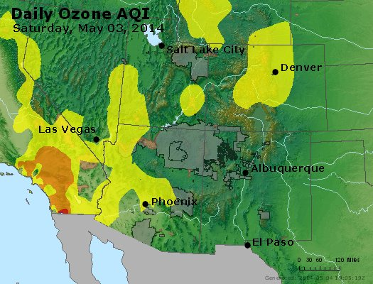 Peak Ozone (8-hour) - http://files.airnowtech.org/airnow/2014/20140503/peak_o3_co_ut_az_nm.jpg