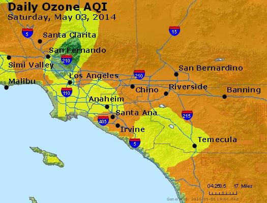 Peak Ozone (8-hour) - http://files.airnowtech.org/airnow/2014/20140503/peak_o3_losangeles_ca.jpg