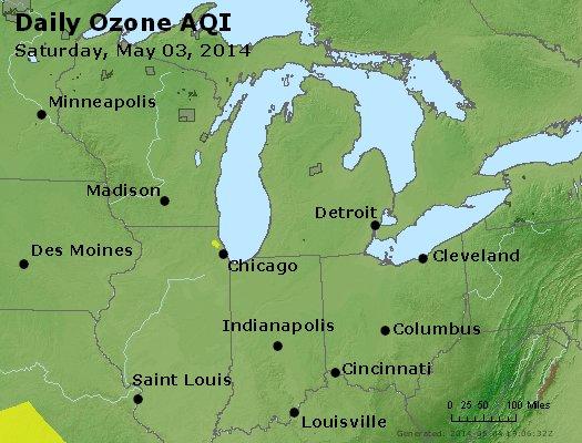 Peak Ozone (8-hour) - http://files.airnowtech.org/airnow/2014/20140503/peak_o3_mi_in_oh.jpg