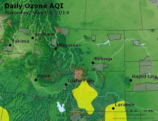 Peak Ozone (8-hour) - http://files.airnowtech.org/airnow/2014/20140503/peak_o3_mt_id_wy.jpg