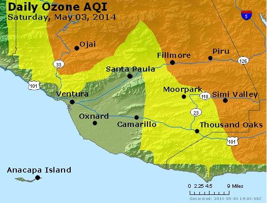 Peak Ozone (8-hour) - http://files.airnowtech.org/airnow/2014/20140503/peak_o3_ventura.jpg