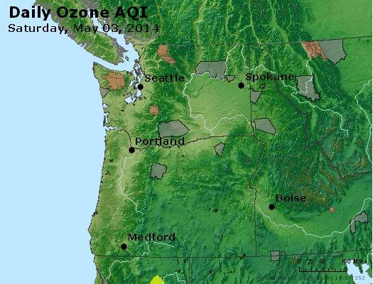 Peak Ozone (8-hour) - http://files.airnowtech.org/airnow/2014/20140503/peak_o3_wa_or.jpg