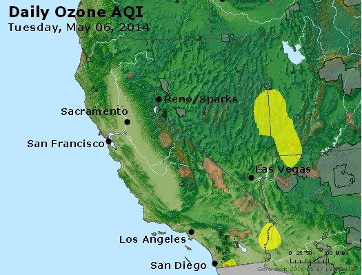 Peak Ozone (8-hour) - http://files.airnowtech.org/airnow/2014/20140506/peak_o3_ca_nv.jpg