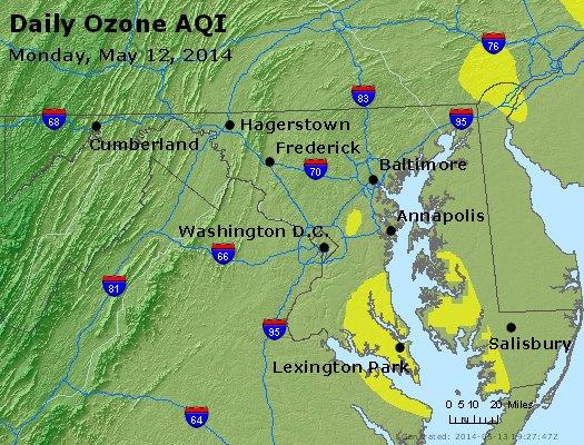 Peak Ozone (8-hour) - http://files.airnowtech.org/airnow/2014/20140512/peak_o3_maryland.jpg