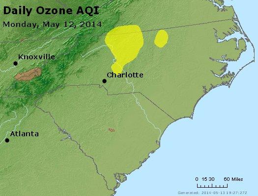 Peak Ozone (8-hour) - http://files.airnowtech.org/airnow/2014/20140512/peak_o3_nc_sc.jpg