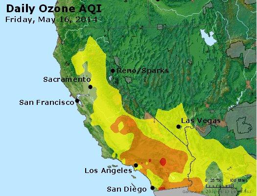 Peak Ozone (8-hour) - http://files.airnowtech.org/airnow/2014/20140516/peak_o3_ca_nv.jpg
