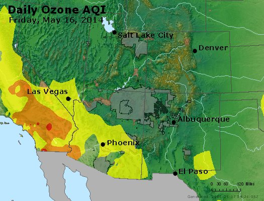 Peak Ozone (8-hour) - http://files.airnowtech.org/airnow/2014/20140516/peak_o3_co_ut_az_nm.jpg