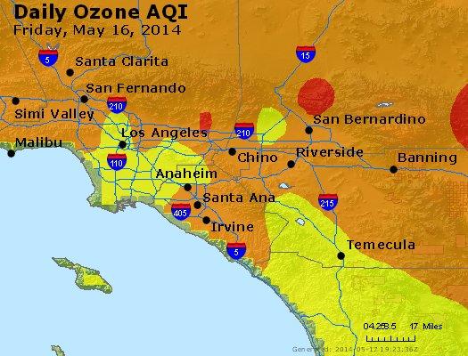 Peak Ozone (8-hour) - http://files.airnowtech.org/airnow/2014/20140516/peak_o3_losangeles_ca.jpg