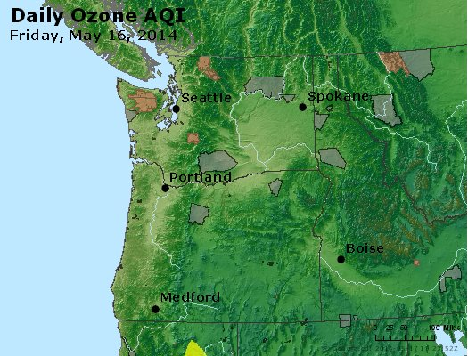 Peak Ozone (8-hour) - http://files.airnowtech.org/airnow/2014/20140516/peak_o3_wa_or.jpg