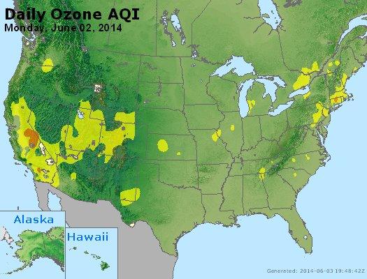 Peak Ozone (8-hour) - http://files.airnowtech.org/airnow/2014/20140602/peak_o3_usa.jpg