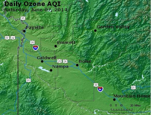 Peak Ozone (8-hour) - http://files.airnowtech.org/airnow/2014/20140607/peak_o3_boise_id.jpg