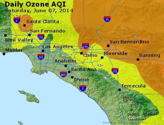 Peak Ozone (8-hour) - http://files.airnowtech.org/airnow/2014/20140607/peak_o3_losangeles_ca.jpg