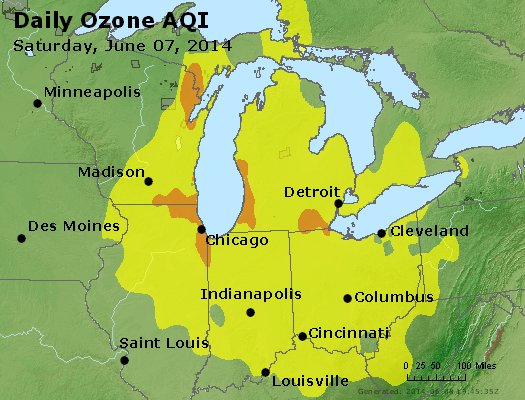 Peak Ozone (8-hour) - http://files.airnowtech.org/airnow/2014/20140607/peak_o3_mi_in_oh.jpg