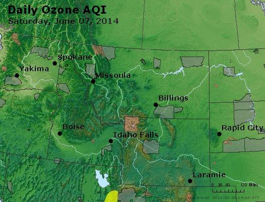 Peak Ozone (8-hour) - http://files.airnowtech.org/airnow/2014/20140607/peak_o3_mt_id_wy.jpg