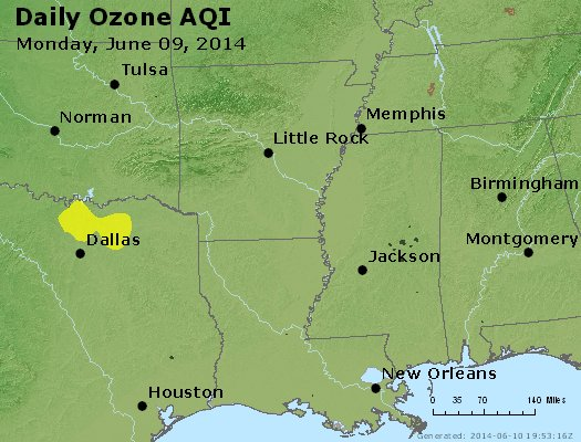 Peak Ozone (8-hour) - http://files.airnowtech.org/airnow/2014/20140609/peak_o3_ar_la_ms.jpg