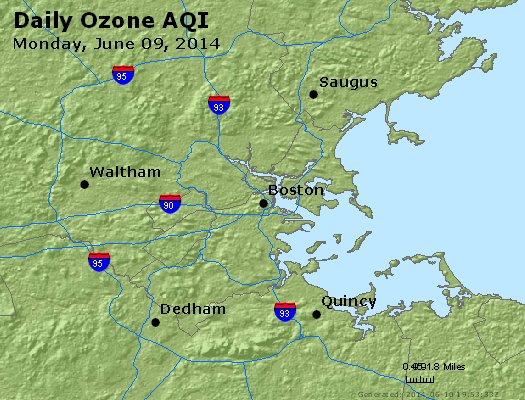 Peak Ozone (8-hour) - http://files.airnowtech.org/airnow/2014/20140609/peak_o3_boston_ma.jpg
