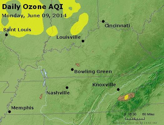 Peak Ozone (8-hour) - http://files.airnowtech.org/airnow/2014/20140609/peak_o3_ky_tn.jpg