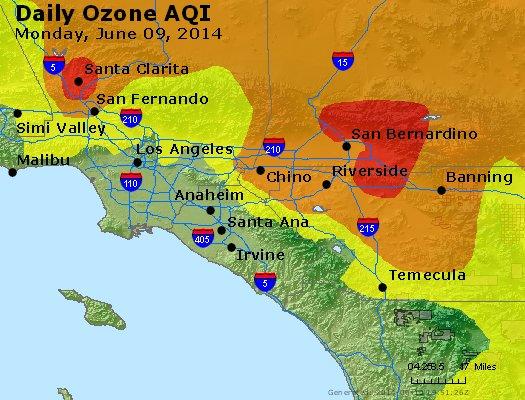 Peak Ozone (8-hour) - http://files.airnowtech.org/airnow/2014/20140609/peak_o3_losangeles_ca.jpg