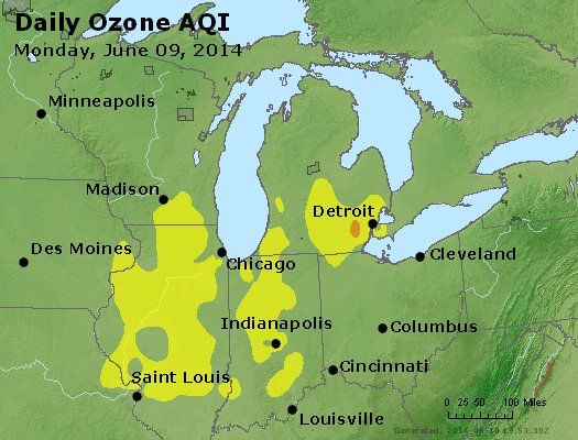 Peak Ozone (8-hour) - http://files.airnowtech.org/airnow/2014/20140609/peak_o3_mi_in_oh.jpg