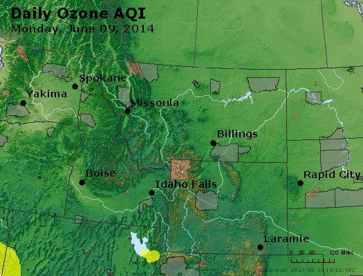 Peak Ozone (8-hour) - http://files.airnowtech.org/airnow/2014/20140609/peak_o3_mt_id_wy.jpg