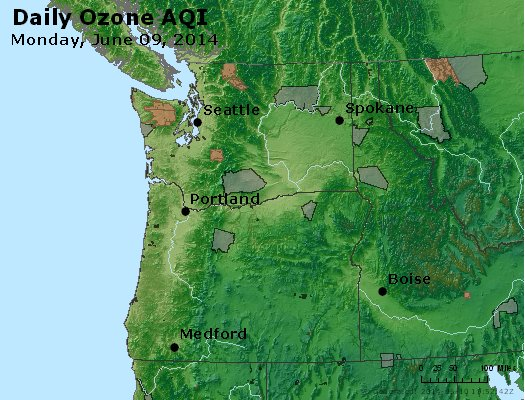 Peak Ozone (8-hour) - http://files.airnowtech.org/airnow/2014/20140609/peak_o3_wa_or.jpg