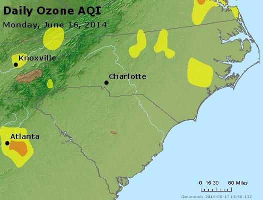 Peak Ozone (8-hour) - http://files.airnowtech.org/airnow/2014/20140616/peak_o3_nc_sc.jpg