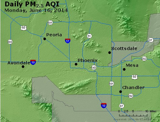 Peak Particles PM<sub>2.5</sub> (24-hour) - http://files.airnowtech.org/airnow/2014/20140616/peak_pm25_phoenix_az.jpg