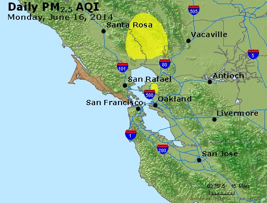 Peak Particles PM<sub>2.5</sub> (24-hour) - http://files.airnowtech.org/airnow/2014/20140616/peak_pm25_sanfrancisco_ca.jpg