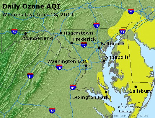 Peak Ozone (8-hour) - http://files.airnowtech.org/airnow/2014/20140618/peak_o3_maryland.jpg