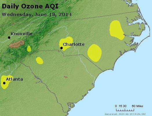 Peak Ozone (8-hour) - http://files.airnowtech.org/airnow/2014/20140618/peak_o3_nc_sc.jpg