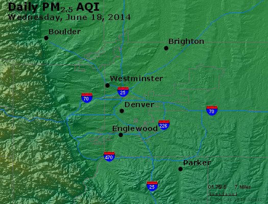 Peak Particles PM<sub>2.5</sub> (24-hour) - http://files.airnowtech.org/airnow/2014/20140618/peak_pm25_denver_co.jpg