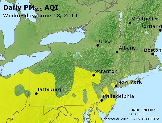 Peak Particles PM<sub>2.5</sub> (24-hour) - http://files.airnowtech.org/airnow/2014/20140618/peak_pm25_ny_pa_nj.jpg