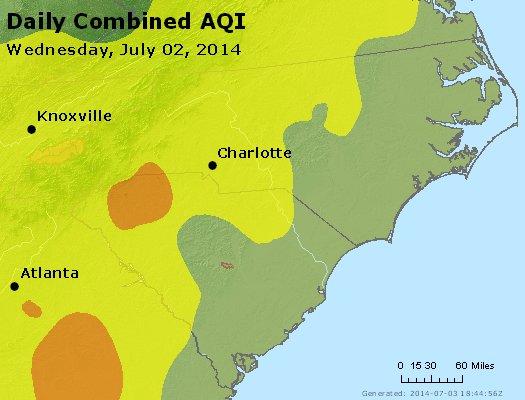 Peak AQI - http://files.airnowtech.org/airnow/2014/20140702/peak_aqi_nc_sc.jpg