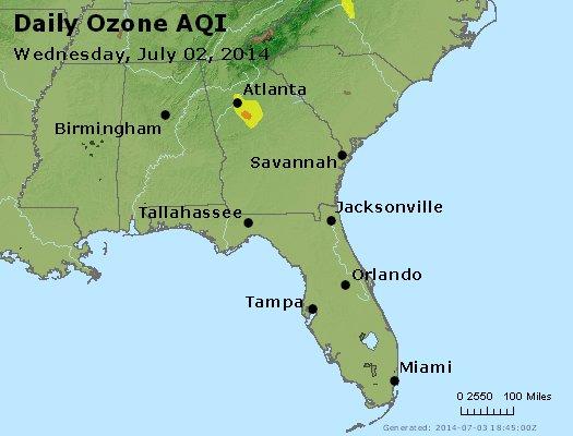 Peak Ozone (8-hour) - http://files.airnowtech.org/airnow/2014/20140702/peak_o3_al_ga_fl.jpg