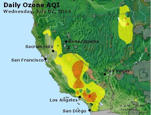 Peak Ozone (8-hour) - http://files.airnowtech.org/airnow/2014/20140702/peak_o3_ca_nv.jpg