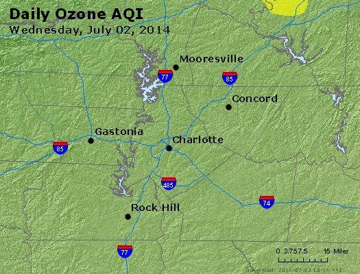 Peak Ozone (8-hour) - http://files.airnowtech.org/airnow/2014/20140702/peak_o3_charlotte_nc.jpg