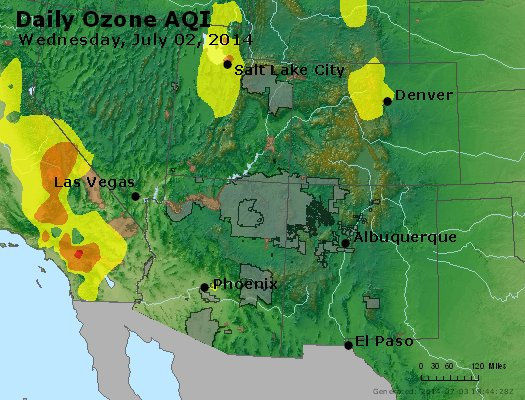 Peak Ozone (8-hour) - http://files.airnowtech.org/airnow/2014/20140702/peak_o3_co_ut_az_nm.jpg