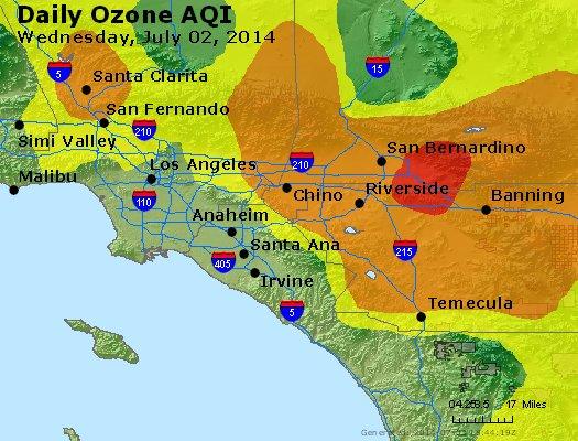Peak Ozone (8-hour) - http://files.airnowtech.org/airnow/2014/20140702/peak_o3_losangeles_ca.jpg